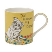 Churchill Couture Did Someone Say Biscuit Pug Dog Mug